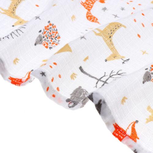 Baby Musselin Decke Baumwoll Swaddle Decke Wrap Nursing Tuch Cartoon Fawn