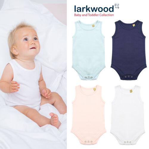 Toddler Vest Playsuit Babygrow Premium Baby Larkwood Brand 50/% OFF