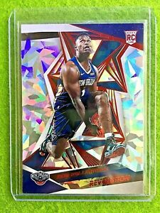 ZION-WILLIAMSON-ROOKIE-CARD-CRACKED-ICE-PRIZM-REFRACTOR-RC-2019-20-Revolution-SP
