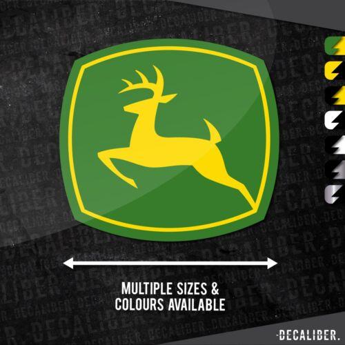 2 tone john deere badge emblem sticker//sticker-many colors and sizes