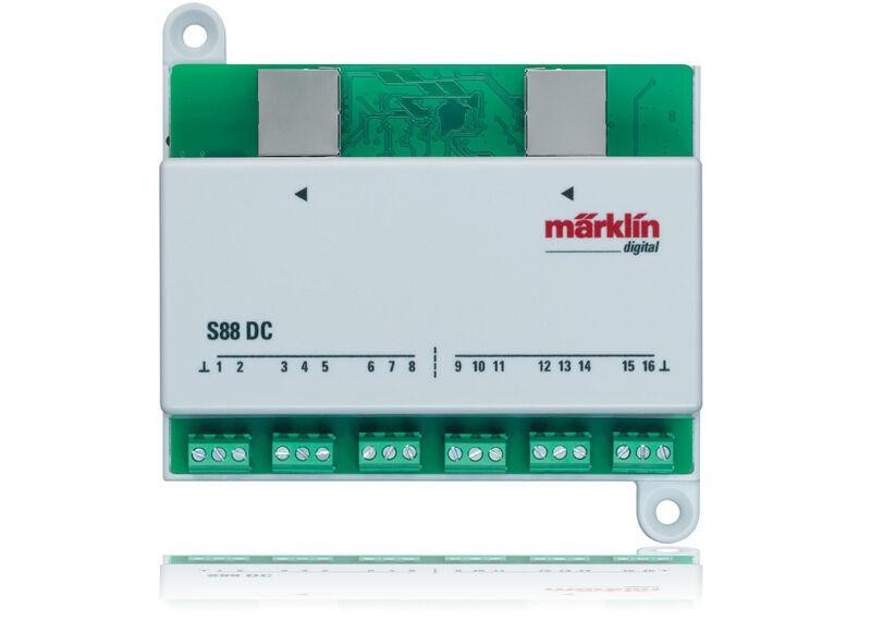 Märklin H0 60882 Decoder S 88 Dc Modulo de Aviso - Nuevo + Emb.orig