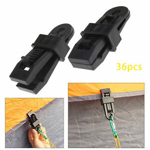 10 Pcs Eyelet Tarp Clips Locking Clamps Great for Camping Canopies Tents Canvas