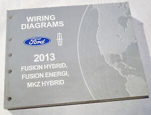 2013 ford fusion hybrid energi mkz hybrid wiring diagrams service rh ebay co uk 2012 ford fusion hybrid manual 2012 Ford Fusion Hybrid