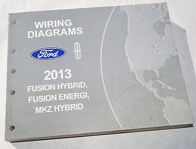2013 Ford Fusion Hybrid Energi Mkz Hybrid Wiring Diagrams Service Manual Ebay