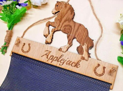 Cheval Rosette Hanger placage chêne Tissu Mesh Ride Support
