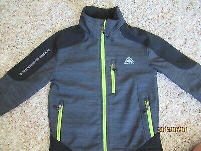 NEW SNOZU Boys/' Novelty Fleece Jacket Black//Red XS 5//6