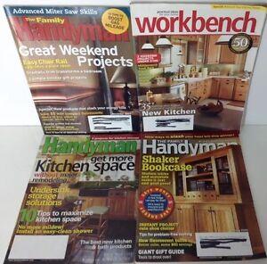 Family Handyman Magazine Workbench Lot Of 4 From 2005 2007