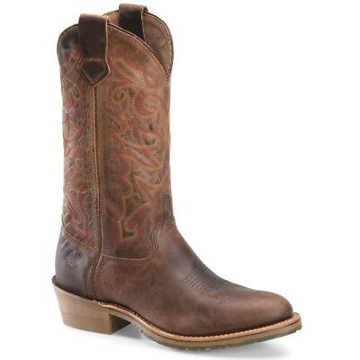 Double H Men's Domestic R Toe Dark Brown Folklore leather ICE Boots DH3606