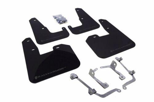 08-14 STI Hatchback Rally Armor UR Black Mud Flap w// Grey Logo For 11-14 WRX