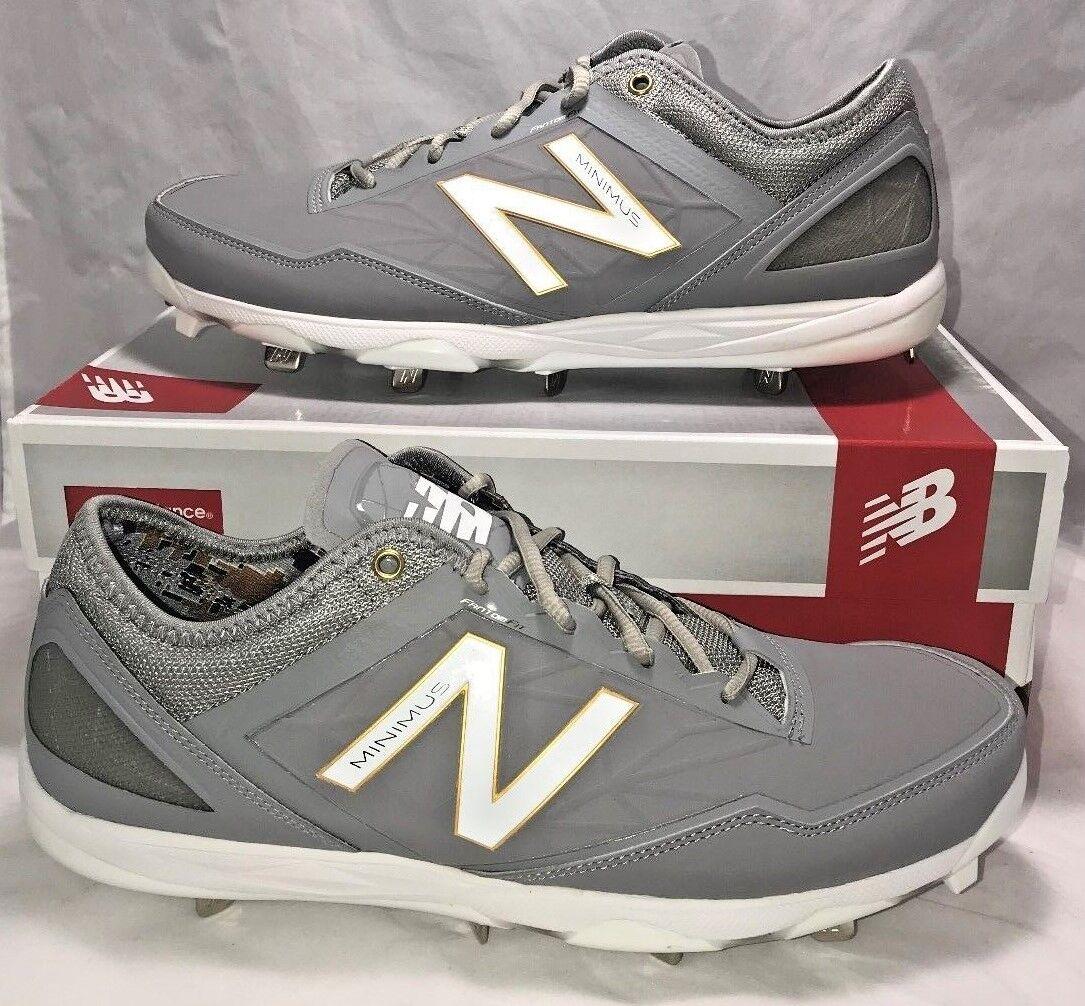 Nuovo Balance Size Uomo Size Balance 12 Minimus Baseball Cleats bianca oro grigio Metal f2c9c3