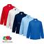 Fruit-of-the-Loom-Enfants-a-Manches-Longues-Polo-Shirt-Smart-Col-Couleurs-Kids miniature 1