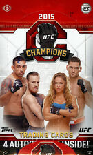 2015 TOPPS UFC CHAMPIONS HOBBY BOX NEW FACTORY SEALED