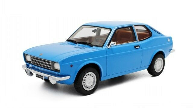 Fiat 128 1100 S 1972 bluee modelcar LM093 Laudoracing 1 18