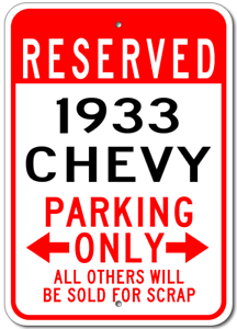 1933-33-CHEVY-Parking-Sign
