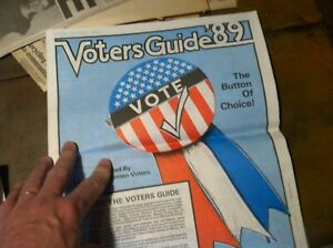 VINTAGE-HISTORICAL-1989-PAPER-VOTERS-GUIDE-89-20-298