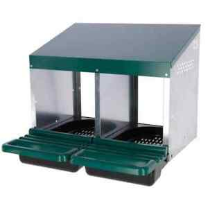 Kerbl-Double-Chicken-Laying-Nest-53x52x43-5cm-Plastic-Green-Poultry-Nestbox