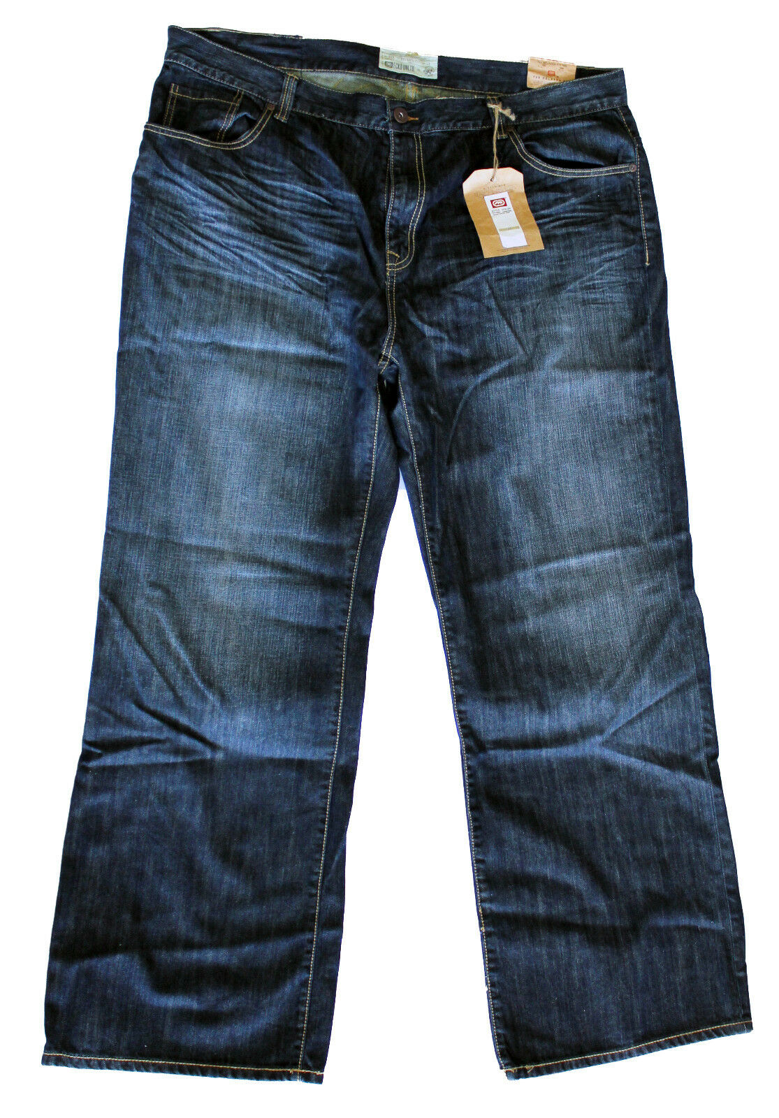 ECKO UNLTD. Rhino Center jeans relaxed fit pants pantaloni uomo taglie comode _