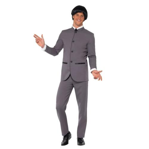 Adult Mens Fab Four 1960s Famous Music Band Icon Suit Fancy Dress Stag Costume