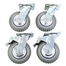 4pcs Heavy Duty Industrial Rubber 6 Caster Wheels Swivel Ball Bearing 360