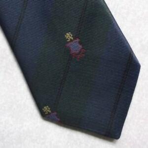 Sur De Soi Vintage Cravate Homme Cravate Crested Club Association Society à Rayures-afficher Le Titre D'origine