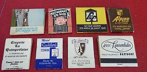 Vintage-Match-Book-Lot-of-9-Restaurant-Le-Fripon-La-Petite-Marmite-Tropicana