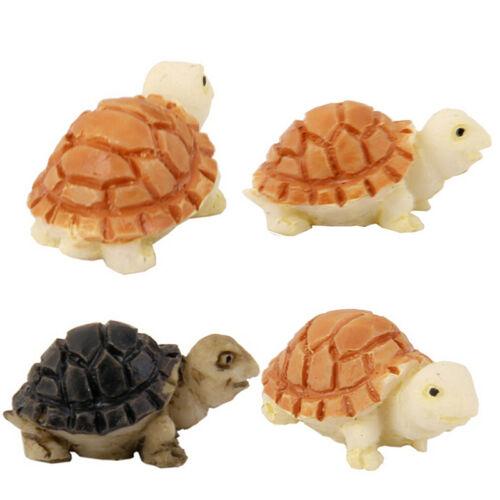 2Pcs Miniature Dollhouse Bonsai Fairy Garden Landscape Diy Tortoise Decor JP