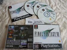 Final Fantasy 7 VII PS1 (COMPLETE) Sony PlayStation RPG black label