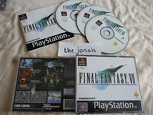 Final-Fantasy-7-VII-PS1-COMPLETE-RPG-black-label-Sony-PlayStation