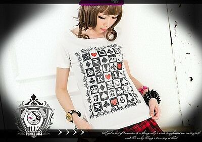 american street punk death check game gambit poker card unisex tshirt JHU0004