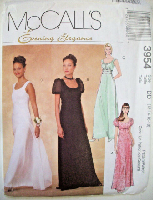 Mccall\'s M4714 Regency Wedding Bridal Dress Gown Pattern Overlay ...