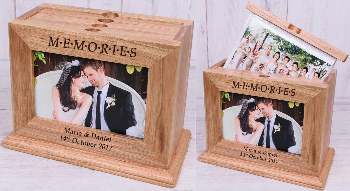 Idee Fotografiche Anniversario : Album foto in legno personalizzato insolite idee regalo per