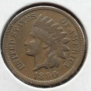 1890-Indian-Head-Cent-1c-Better-Grade-10894