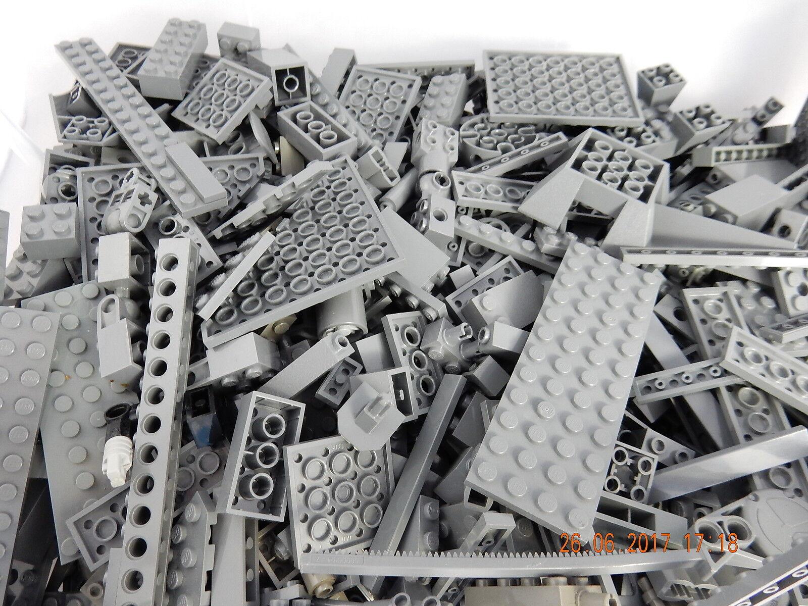 Lego 1 kg graue Bausteine Sondersteine Star Wars Teile Platten hellgrau dunkelgr