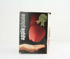 80s Red Apple Shaped Push Button Retro Novelty Telephone Phone w/ Box - WORKS