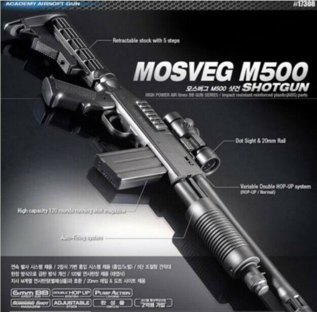 Academy Mosveg M500 Airmjuk SvarmGUN Plastic Model Kit Svarm Gun 6mm BB Toy35;17308