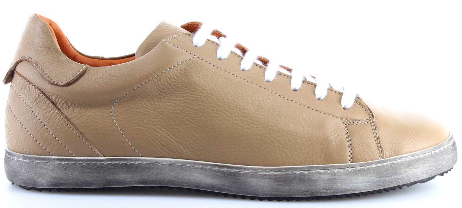 Uomo Scarpe scarpe da ginnastica  VERSACE VJC Jeans Couture Leather Beige Vintage Made   vieni a scegliere il tuo stile sportivo