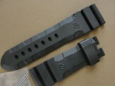 Black Rubber Strap-Band 24mm  fit 44mm-47mm PAM Sumsersible Watches 24mm X 22mm