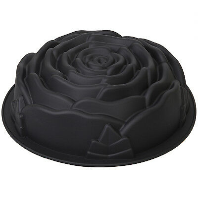 Jumbl Silicone Bundt Pan - Non-Stick Silicone Rose-Shaped Cake Mold