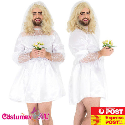 Mens Comedy Bride Groom Stag Do Night Party Funny Fancy Dress Costume Outfit