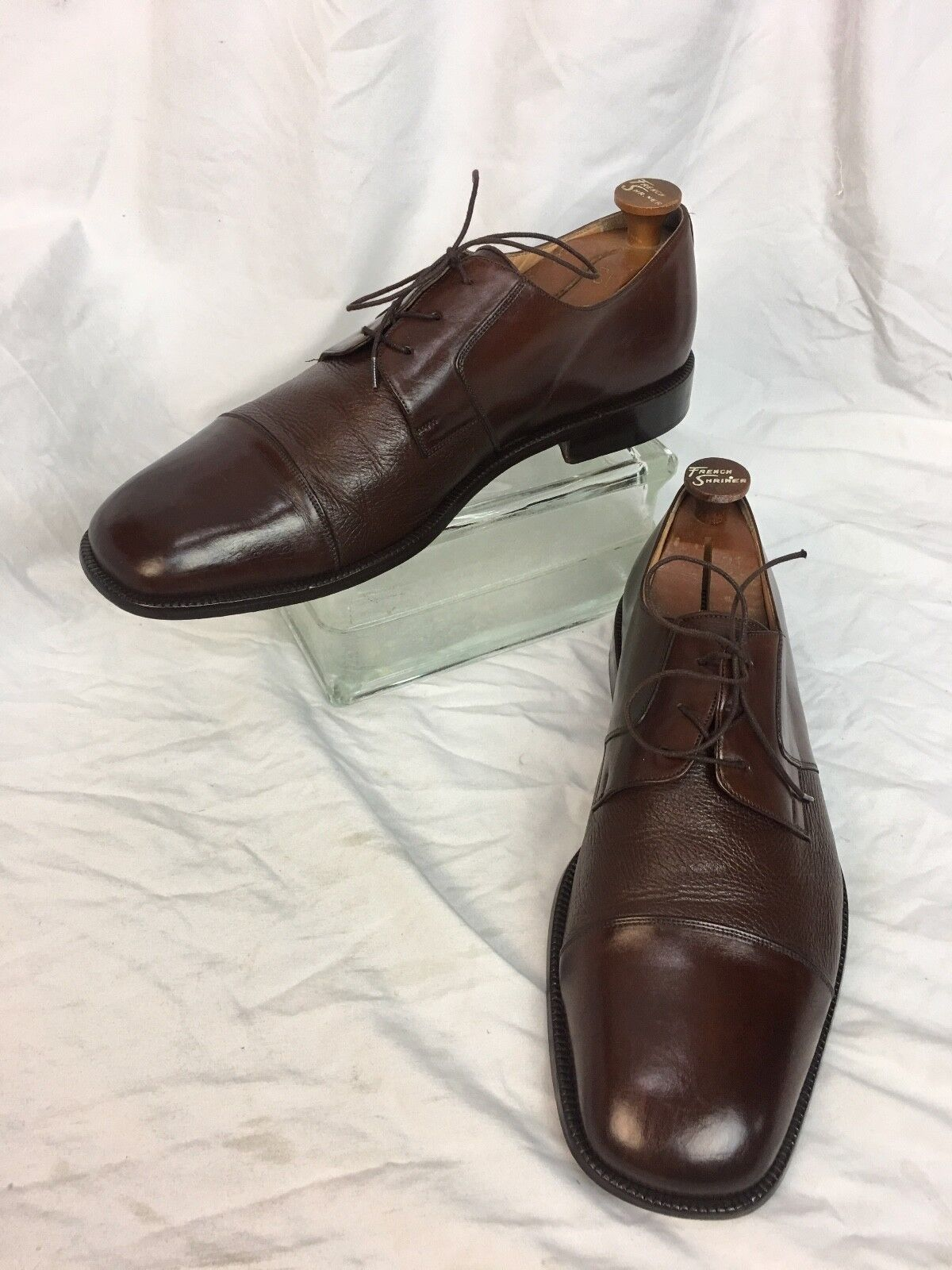 * Zillioni * Oxford Cap Toe Brown Shoes Sz 13 US 46 EUR Made in Italy STUNNING!