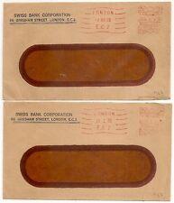 2 COVERS LONDON UNITED KINGDOM ROYAUME UNI TO BARSAC FRANCE. 1929 1930. L967