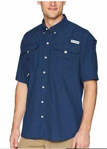 Columbia-PFG-Bahama-ll-M-Medium-Breathable-UV-Protection-Mens-Short-Sleeve-M