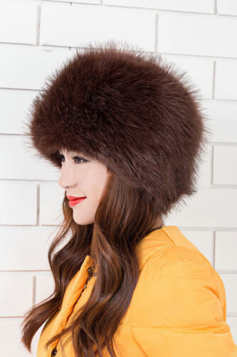 New Warm Cap Fashion Style Women/'s Faux Fox Fur Russian Cossack Style Winter Hat