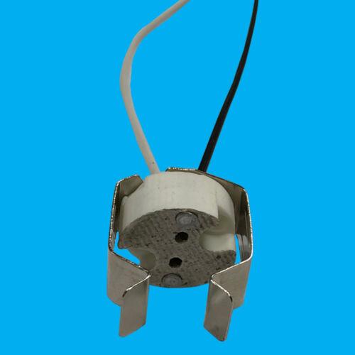 8 X Mr16 Gu5.3 Keramik Sockel mit Heftklammer LED Halogen Fassung Lampenfassung