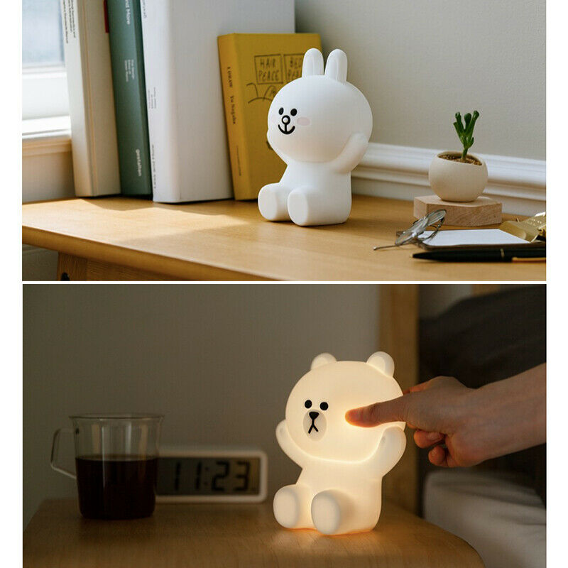 LINE FRIENDS Hug Me LED Touch Lamp Authentic Night Light Baby Kids Bedroom Cony