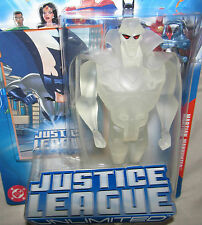 MARTIAN MANHUNTER--Clear Variant! DC UNIVERSE JLU Justice League MIP 2004 SEALED