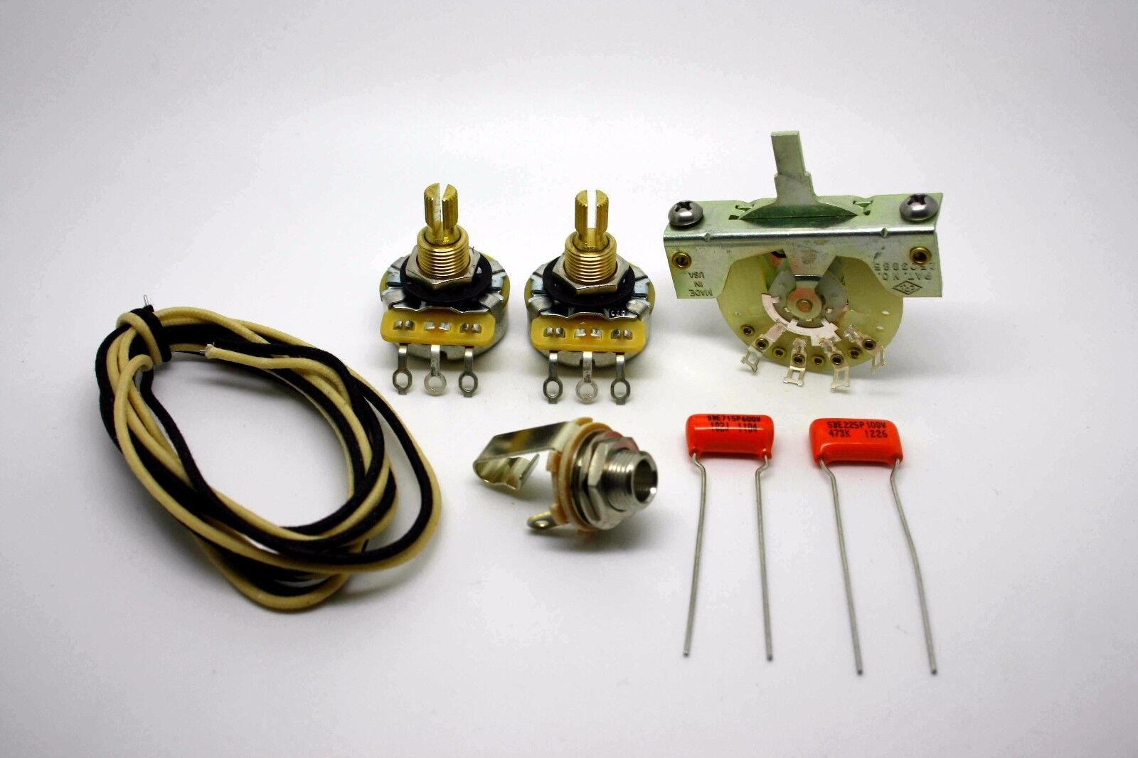 FENDER TELECASTER EXTRA DELUXE & VINTAGE WIRING KIT 0.047uf & DELUXE 0.001uF 94acd5