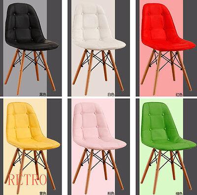 Attivo Stile Retro Eiffel Sala Da Pranzo/cucina/ufficio Sedia In Cuoio-/office Leather Chair It-it Moda Attraente