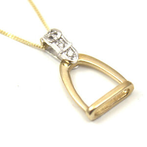 Pendentif étrier or avec diamants  </span>