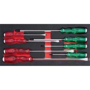Sidchrome 8 Piece Thru-Tang Acetate Screwdriver Custom Kit Set